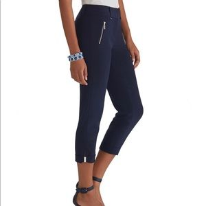 White house black market navy crop pants